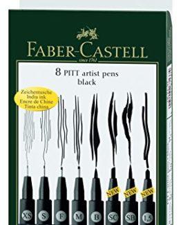 Faber-Castell-167137-Tuschestift-Pitt-Artist-Pen-8er-Kunststoffetui-schwarz-0