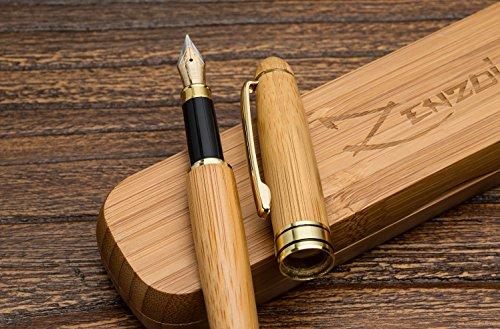Bambus-Vintage-CollectionZenzoi Füllfederhalter-Schreiben-Set-Fall-100-Handgearbeitet