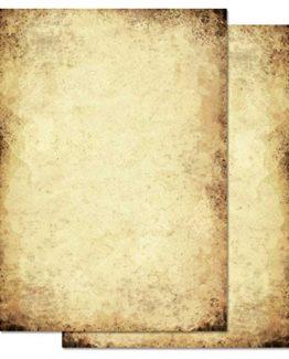 DIN-A5-Motivpapier-Briefpapier-ALTES-PAPIER-Beidseitig-100-Blatt-90gm-0