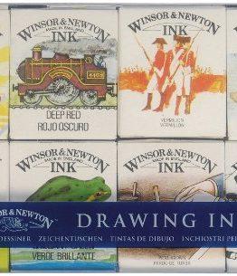 Winsor-Newton-1090094-Zeichentusche-Einfhrungsset-William-8-Zeichentuschen-in-14-ml-Flaschen-fr-Kalligraphen-Illustratoren-Grafikern-und-Knstler-wasserbestndige-Tinte-mit-herrvorragender-Transparenz-0